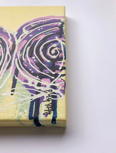 """Yesterday is heavy. Put it down"" Pair of original abstract paintings, Set of 2 Floral painting on canvas"