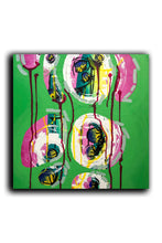 "Load image into Gallery viewer, ""Green"" Deep Edge Canvas Painting, Intuitive Abstract Painting, Green Painting"