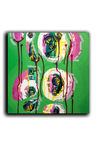"""Green"" Deep Edge Canvas Painting, Intuitive Abstract Painting, Green Painting"