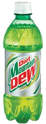 Mountain Dew DIET 20 oz