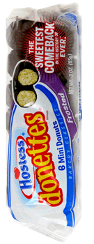 Hostess Chocolate Frosted Donettes 3 oz
