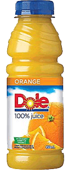 Dole Orange Juice Bottle 15.2oz