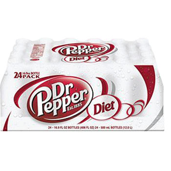 Diet Dr. Pepper Bottle 20 oz 24 pk