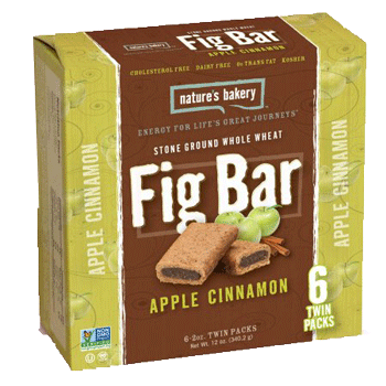 Nature's Bakery Fig Bar Whole Wheat Apple Cinnamon 12 ct.