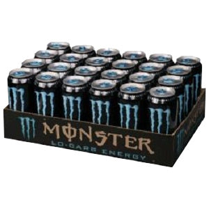 Monster Lo Carb Energy Blue Can 16 oz 24 pk