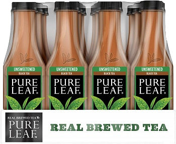 Pure Leaf Unsweetened Tea Bottle 18.5 oz 12pk