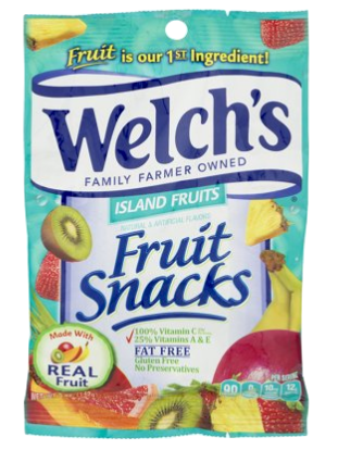 Welch's ISLAND FRUITS Fruit Snacks 5 oz