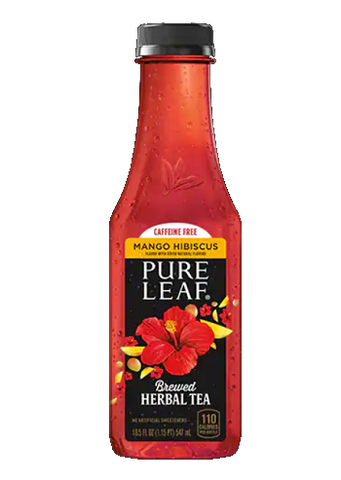Pure Leaf Mango Hibiscus Brewed Herbal Tea 18.5 oz