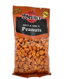 Werner Hot & Spicy Peanuts 7oz