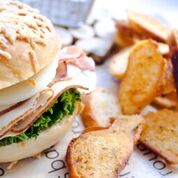 Turkey Bacon Swiss Asiago Bagel Sandwich