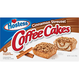 Hostess Cinnamon Streusel Coffee Cake, 8 pk