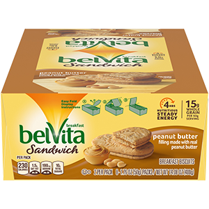 Belvita Breakfast Biscuit Peanut Butter 1.76 oz, 8 ct