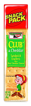 Keebler Club & Cheddar Cheese Crackers 1.8 oz, 12 ct
