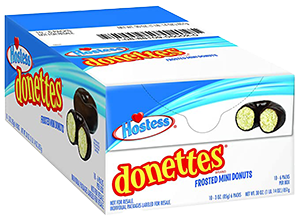 Hostess Chocolate Frosted Donettes 3 oz, 10 pk