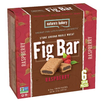 Nature's Bakery Fig Bar Whole Wheat Raspberry 12 ct.