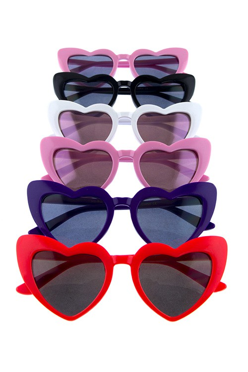 Kids Fashion Love Heart Sunglasses
