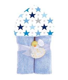 Baby Jar Luxe Hooded Towel -Blue Stars