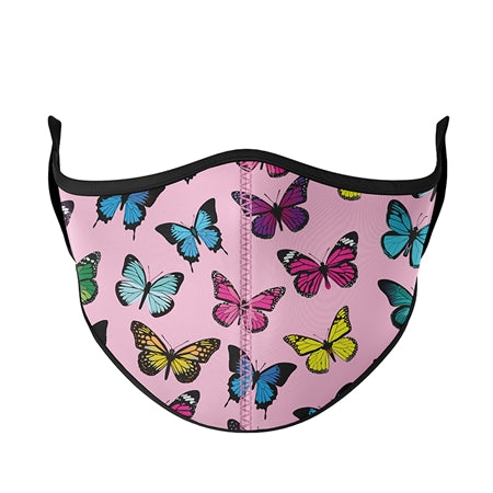 Top Trenz Pink with Butterflies Fashion Face Mask