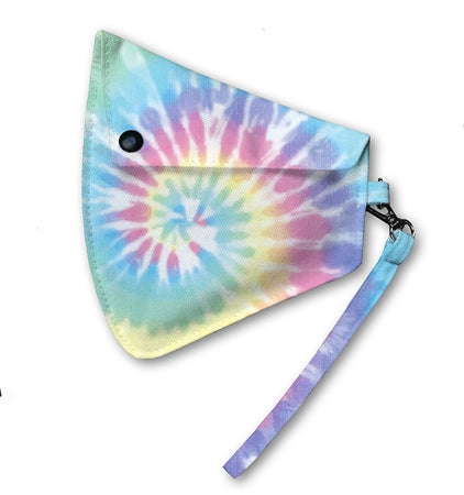 Top Trenz Pastel Tie Dye Pouch holder for masks