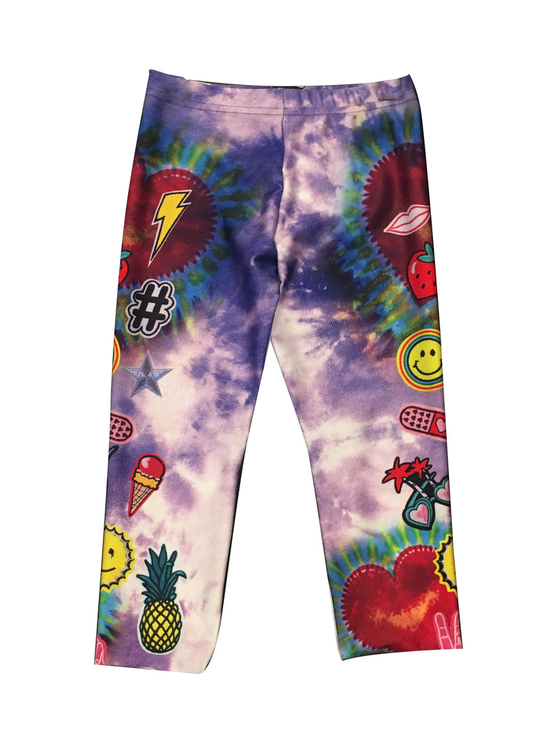 Terez Tie Dye Patches Capri Leggings (Size 7-14)