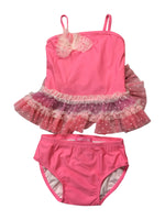 Isobella and Chloe Coral Tutu Tankini bathing Suit