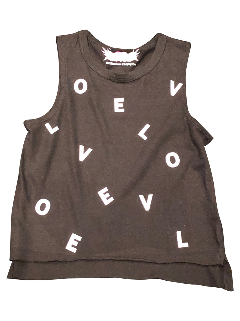 So Nikki Black Scattered LOVE Tank