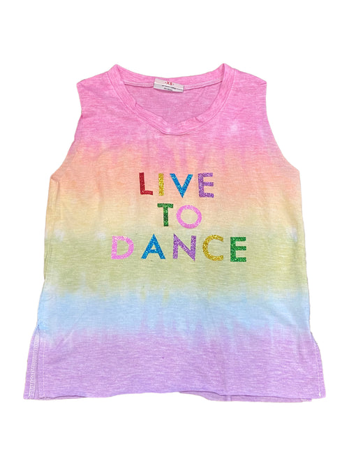 Firehouse Live to Dance Tie Dye Tank