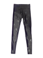 Terez Black Foil Skull Leggings