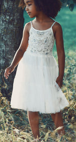 Olivia White Butterfly Dress