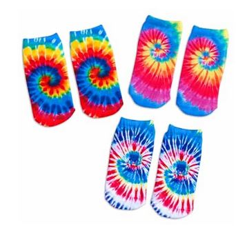 Top Trenz Tie Dye Ankle Socks