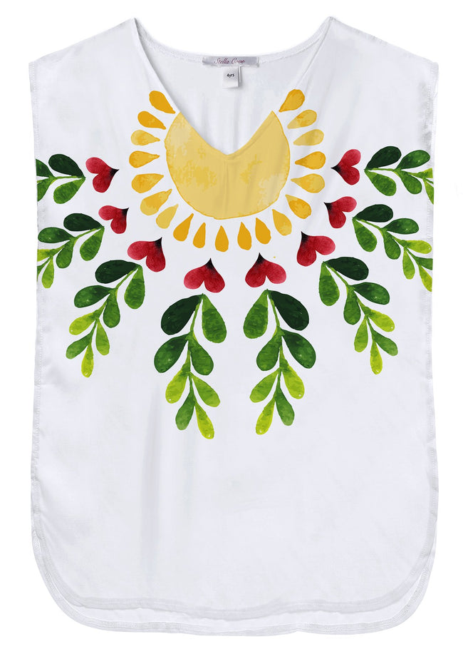 Happy Sun Poncho Beach Cover Up for Girls
