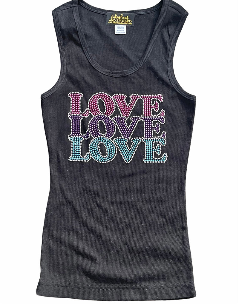 Triple Love Bling Tank