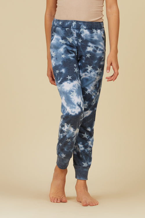 Vintage Havana Navy All Over Stars Jogger