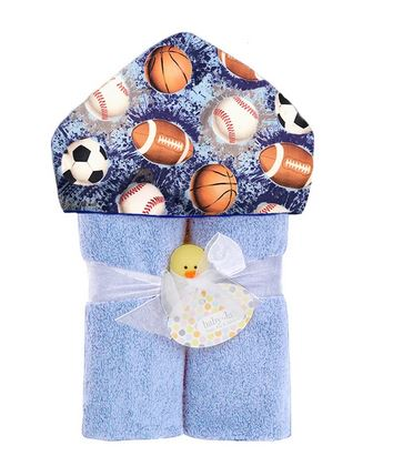 Baby Jar Luxe Hooded Towel -Multi Sports
