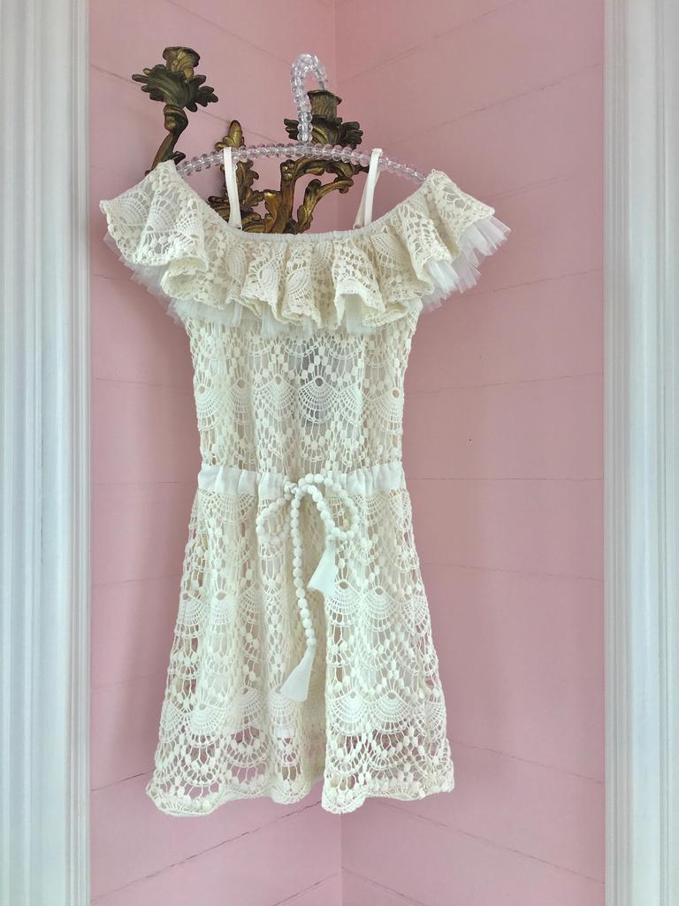 Lace Ruffle White Dress