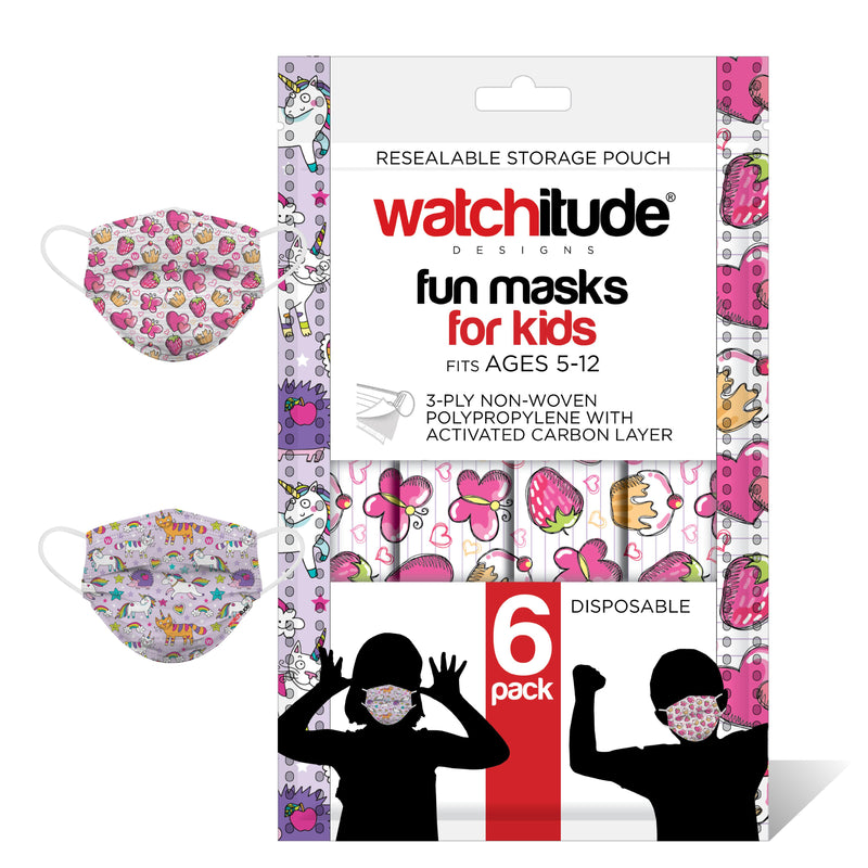 Fashion Disposable Kids Printed Mask - Butterfly Picnic - Club Unicorn #687