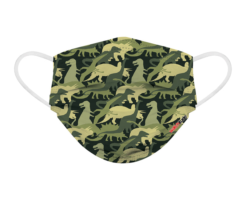 Disposable Kids Printed Mask - Shark Frenzy - Dino Camo #696