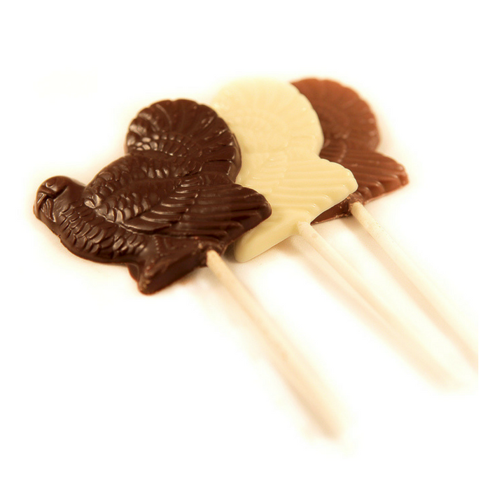 Miami Beach Chocolate Turkey Lollipop (10 pack)