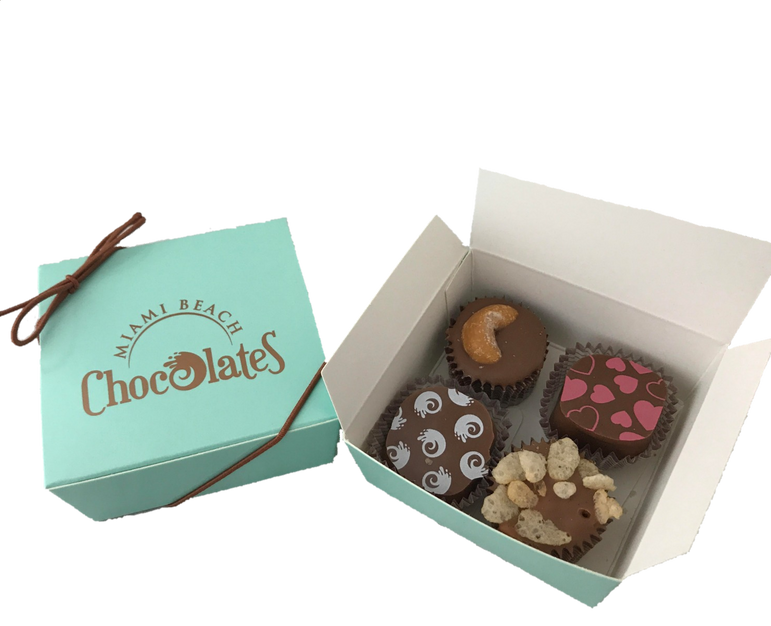4 Piece Truffle and Cluster Box (4 pack)
