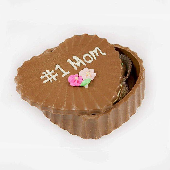 Mother's Day Premium Edible Heart Box w/ Chocolates
