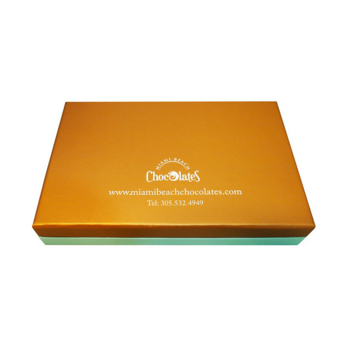 Miami Beach 24pc Chocolate Truffles & Clusters Gift Box