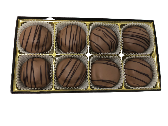 8pc Milk Chocolate Covered Caramel Oreo box