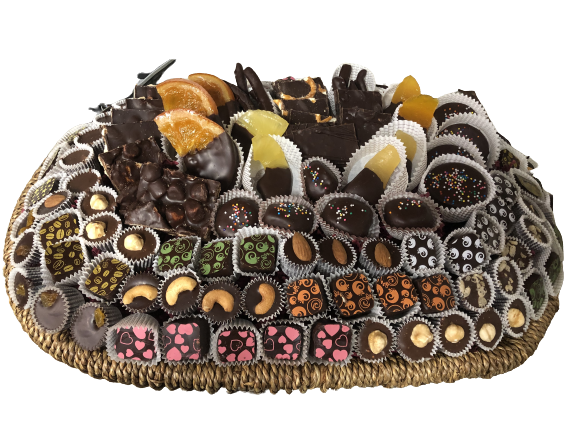 Oval Chocolate Grand Super Deluxe Gift Basket