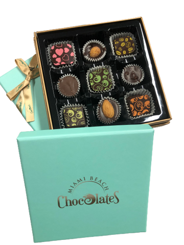Miami Beach 9pc Chocolate Truffle & Cluster Gift Box (2 Pack)
