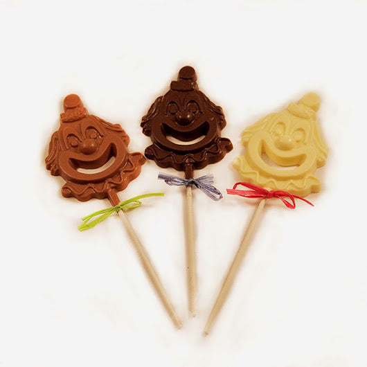 Chocolate Clown Face Lollipop Large ( 4 Pack )