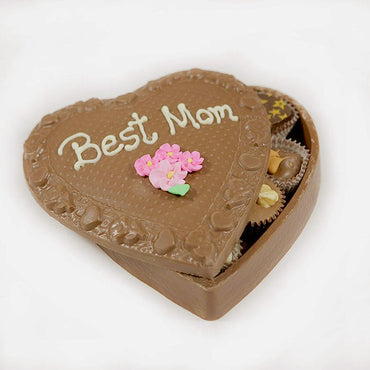 Mother's Day Large Edible Heart Box w/ Chocolates