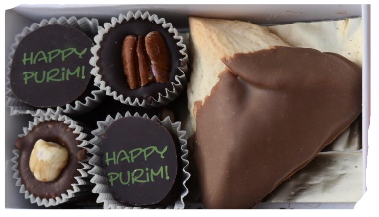 Humantash and Truffle With Happy Purim Gift Box