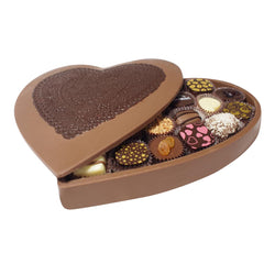 Miami Beach Premium Deluxe Edible Heart Box w/ Chocolates