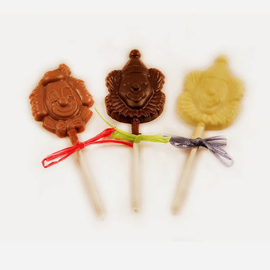 Chocolate Clown Face Lollipop Small (6 Pack)