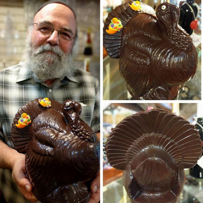 "Miami Beach 10"" Chocolate Turkey Center Piece"